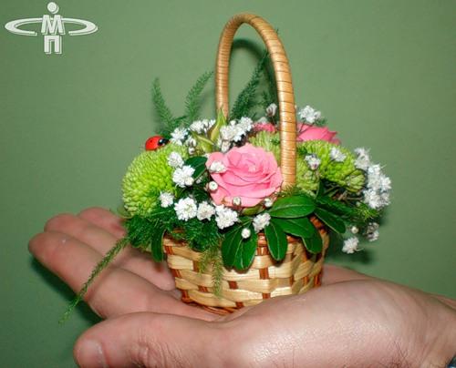 Цветочная корзина своими руками
