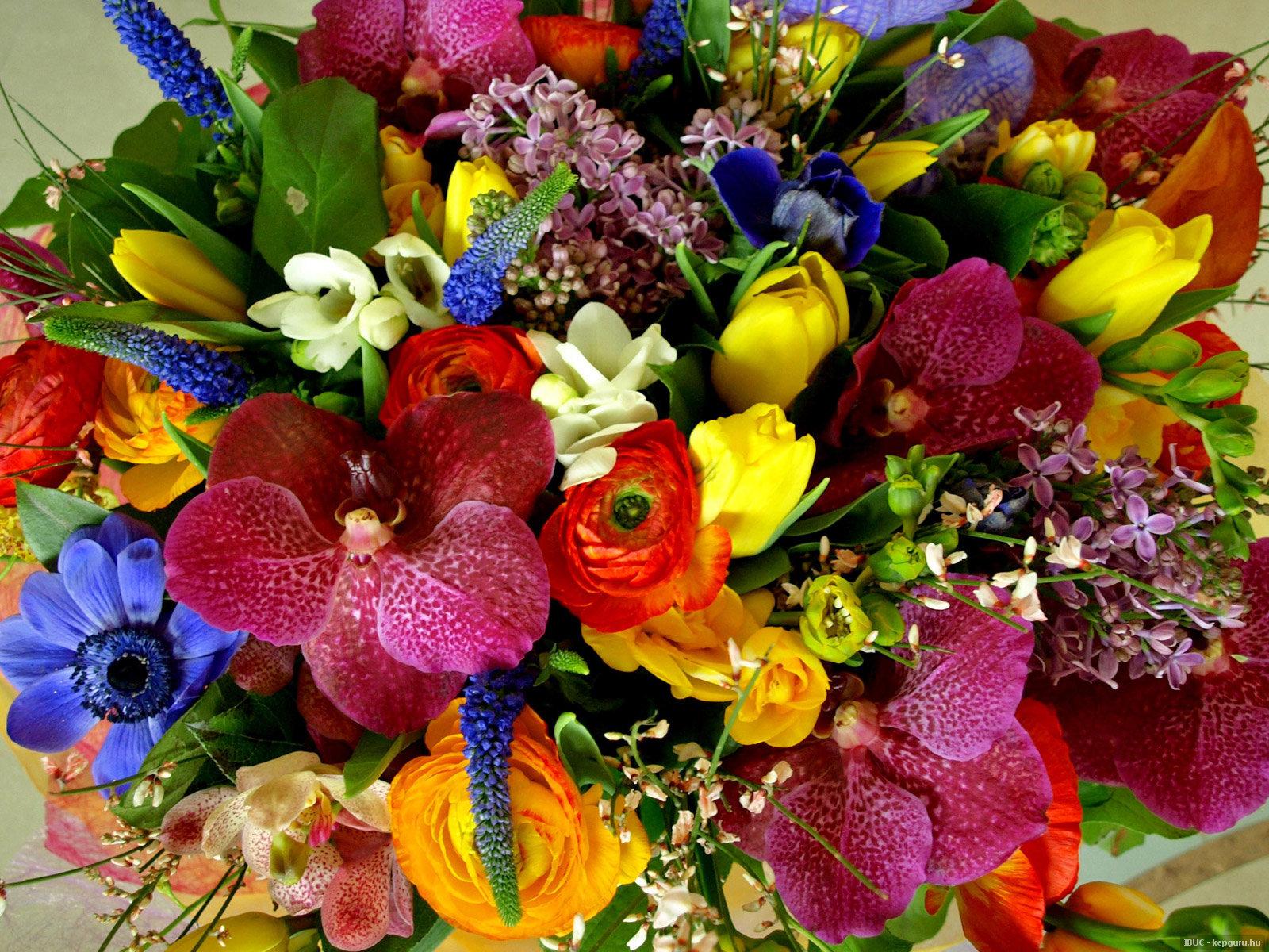 Букет разных красивых цветов